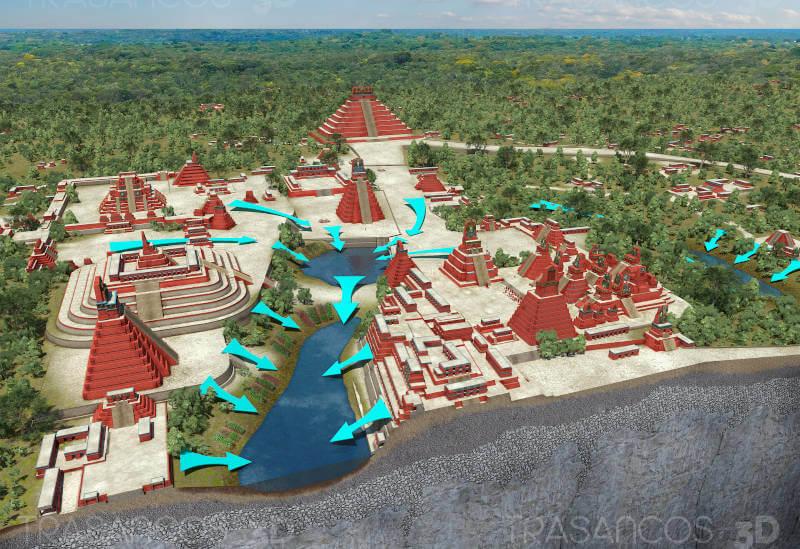 Reservoire system - Tikal (Guatemala) - Planet Azrchaeology